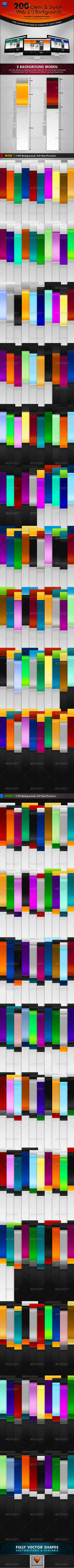 200 Clean and Stylish Web 2.0 Backgrounds by behzadblack
