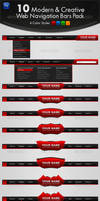 10 Modern and Creative Web Navigation Bars Pack
