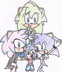 SonAmy Fan Kids by Sonic-Shock