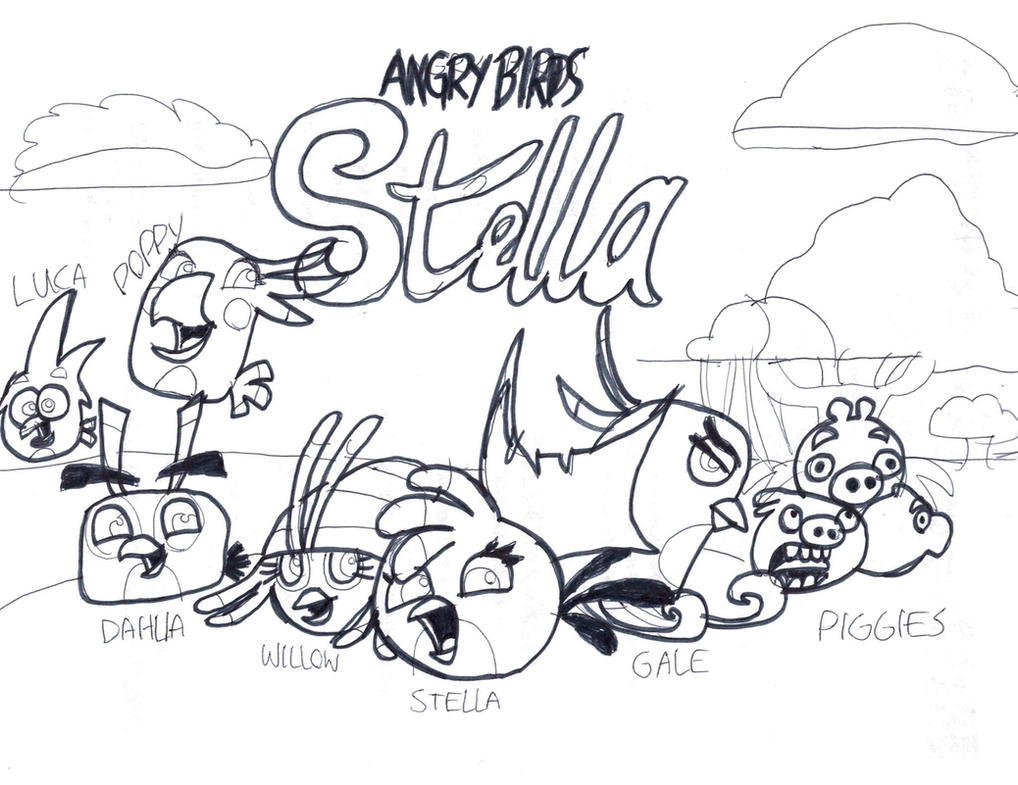 Angry Birds Stella Coloring Page by TIFFANYANGRYBIRDS23 on DeviantArt