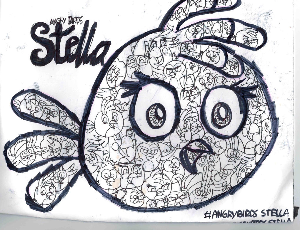 Angry Birds Stella Coloring Page By TIFFANYANGRYBIRDS23