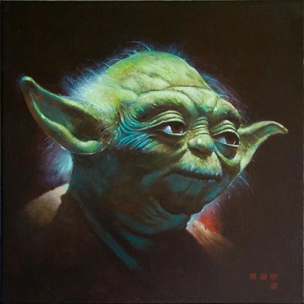 Yoda 12x12 inches Oil on Canvas, 2010