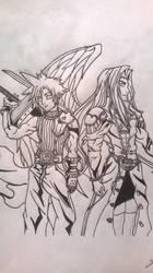 Cloud e Sephiroth by ProcioneDisegnatore