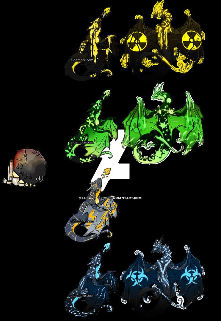 Eldemore Adoptables - Nuclear Set by LunaHydreigon