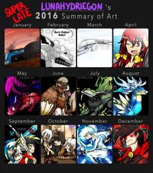 Super Late LunaHydreigon 2016 Summary of Art