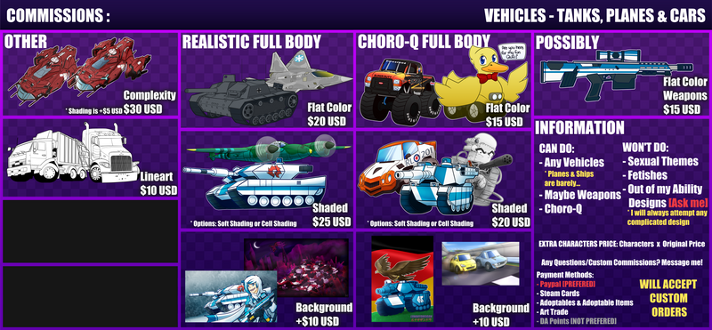 Vehicle Commissions
