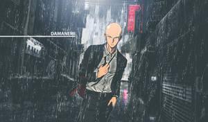 Saitama One Punch Man Rainy Dark City Wallpaper