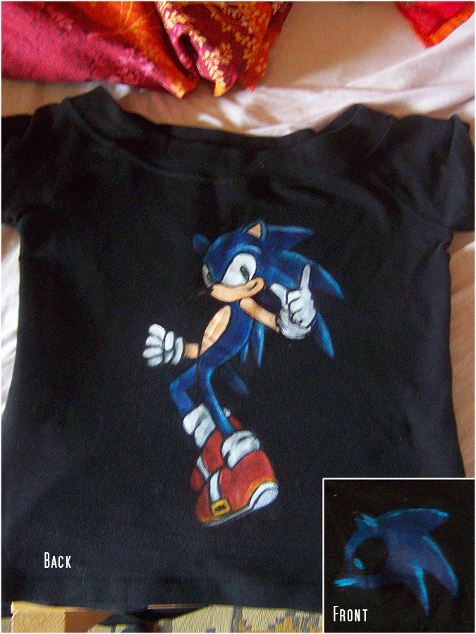 Sonic the Hedgehog T-Shirt by stardrop