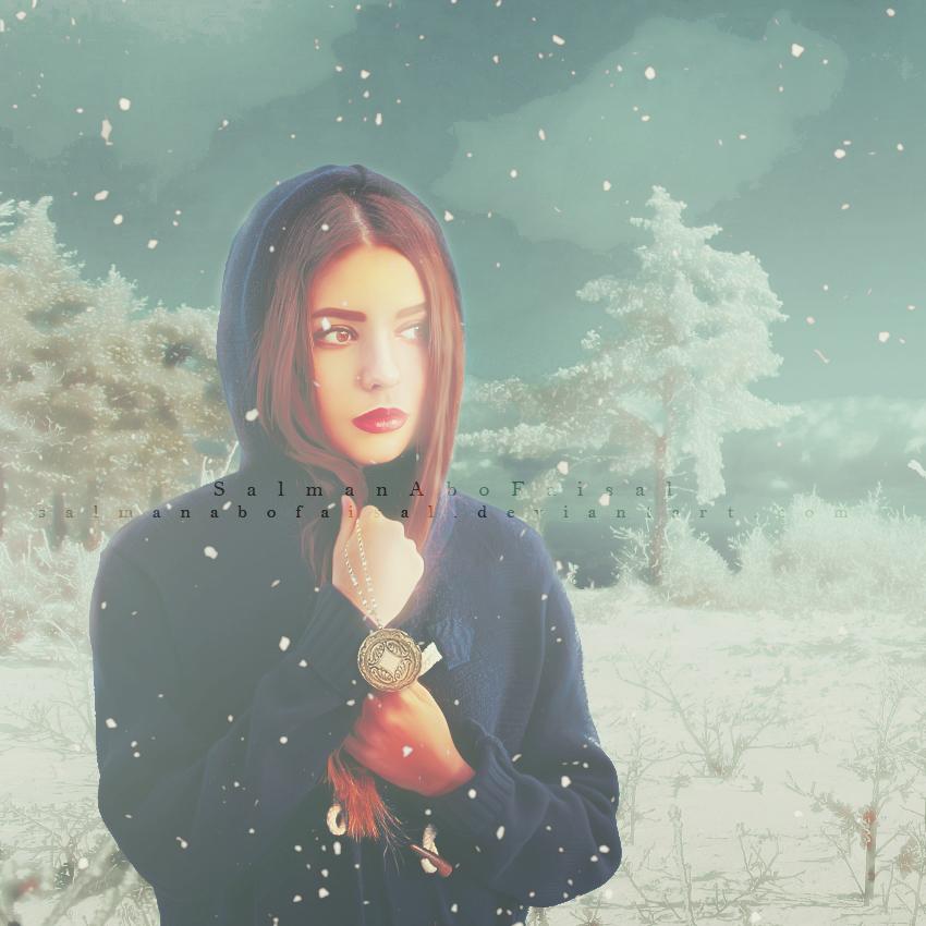 Girl In Snow by SalmanAboFaisal