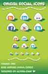 Onigiri Social Icons Set