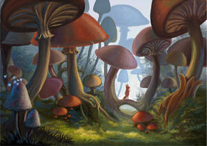 Kito in the Mushroom Forest