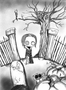 Lenore at the graveyard