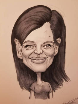 Katie Homes Caricature
