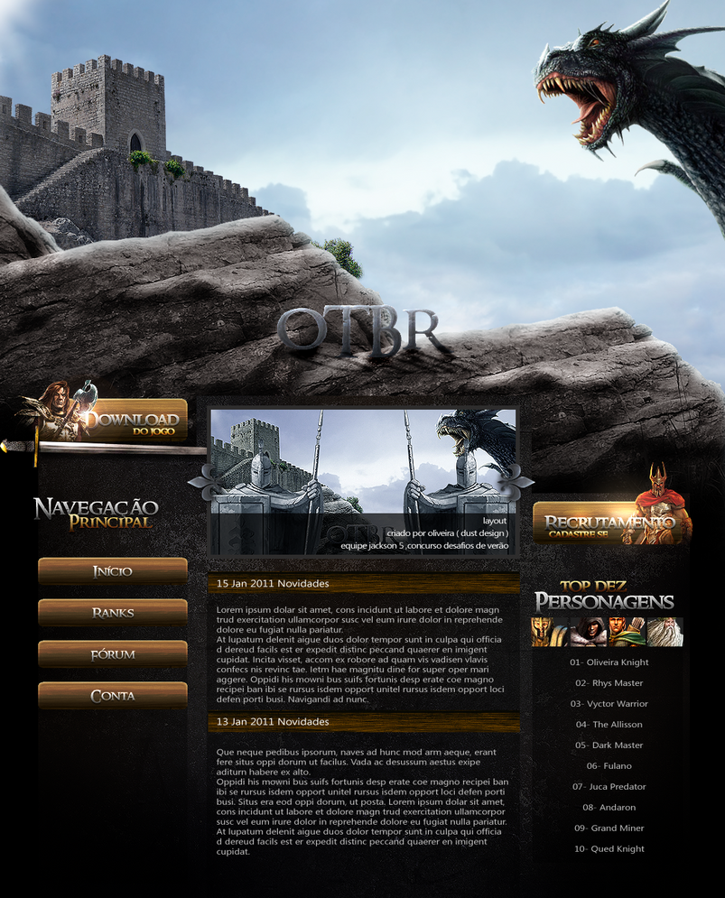 medieval layout v2 by ttarjapreta d379vlf Web Interface Showcase of Inspiration
