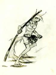 pencil drawing/new scotland warrior