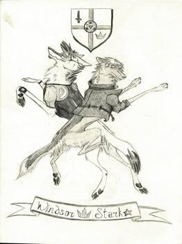 pencil drawing/ stark-windsor couple