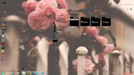 Glass Pink Heart Windows 7