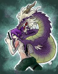 OC- The purple dragon
