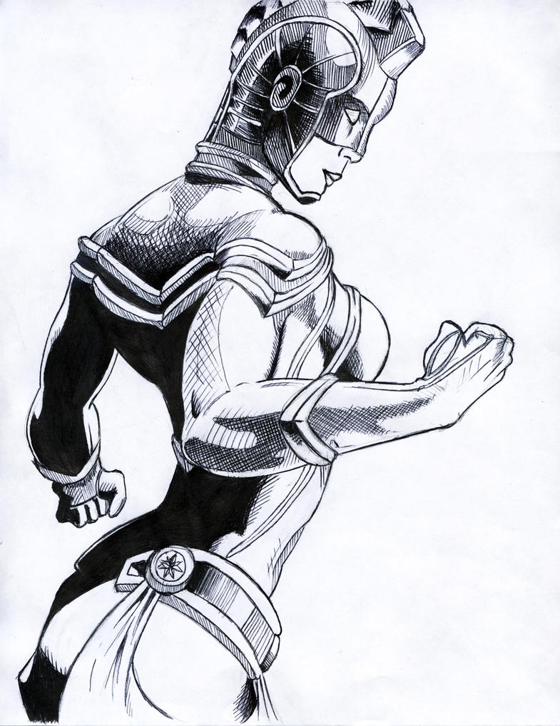 Captain Marvel (Ink) by WhatProductions