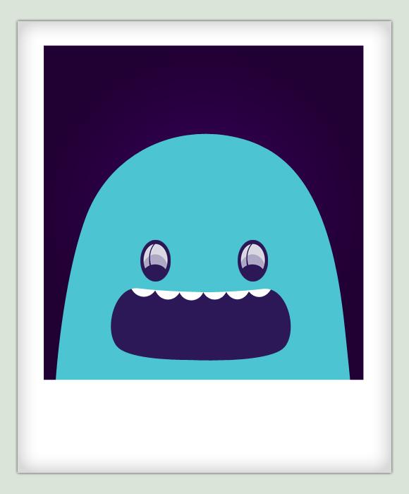Blue Character Polaroid by kr3wsk8er2811