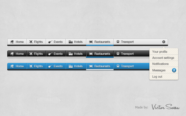 Awesome Navigation Free PSD by victorsosea
