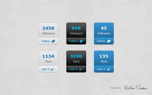 Social Count Buttons Free PSD by victorsosea