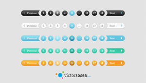5 Pagination Styles Free PSD