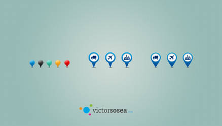 Map Pins Free PSD by victorsosea