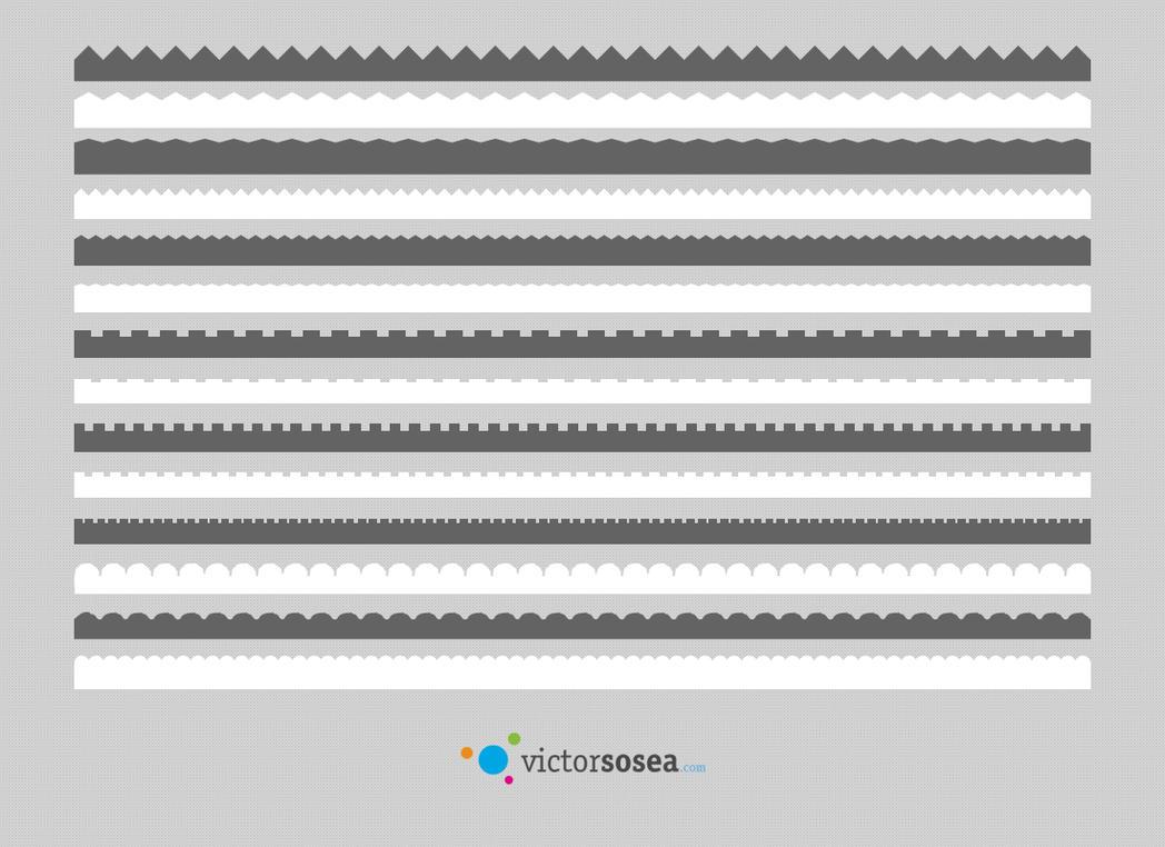 Border Vector Shapes Free PSD by victorsosea