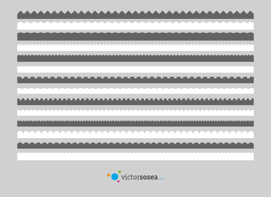 Border Vector Shapes Free PSD by victorsosea