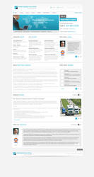 Business Website Free PSD by victorsosea