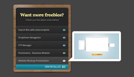 Listing Widget Box Free PSD by victorsosea