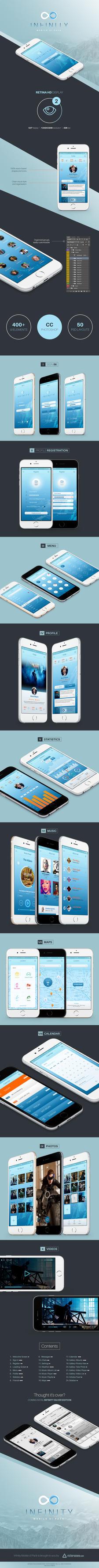 Infinity Mobile UI Free PSD by victorsosea