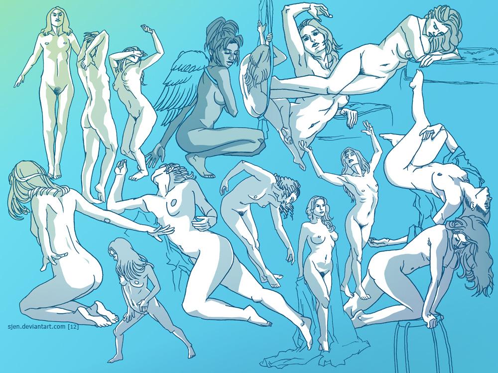 Studies - Female Figure by SJen