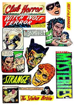 Horror Comics - Digital Collage Sheet