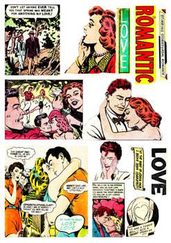 Romance Comics - Digital Collage Sheet