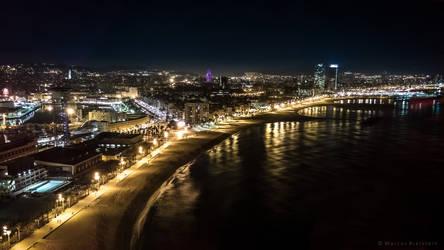 Barcelona @ night by mbielstein