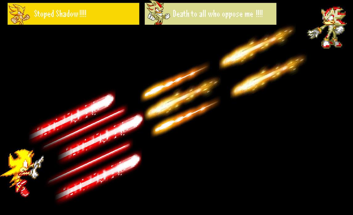 Super Sonic Vs Super Shadow by darkshadow9999 on DeviantArt