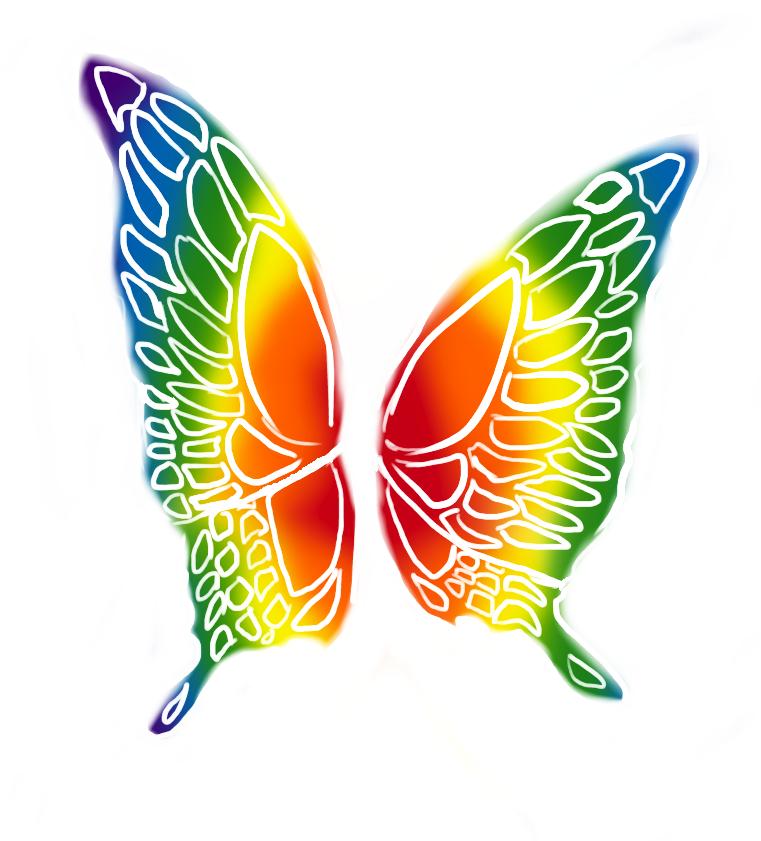 Rainbow Butterfly by bunnyb133 on DeviantArt