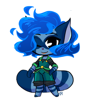 Itty Bit Chibi Commission for AstraAurora by bunnyb133