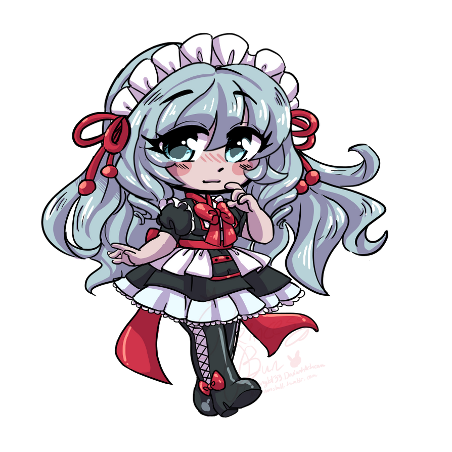 Roly Poly Chibi Commission for Typhoon-manga by bunnyb133