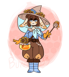 Honeybee Witch Bunny Adopt(CLOSED) by bunnyb133
