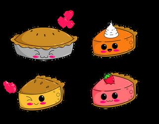 Super Kawaii Desserts: Pies by Kitten-Skull