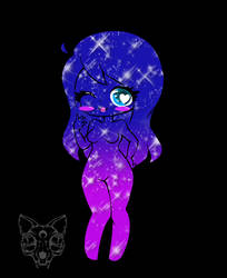 Chibi Galaxy Girl by Kitten-Skull