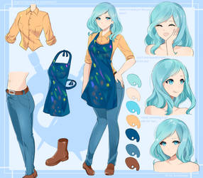 Iris Aquamar character sheet by KazeNoKami1