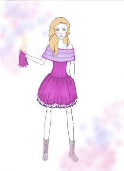 robe violette