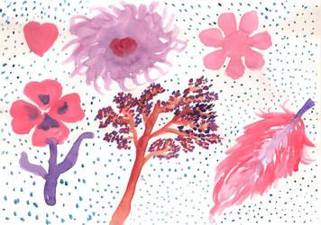 Fleurs Aqua