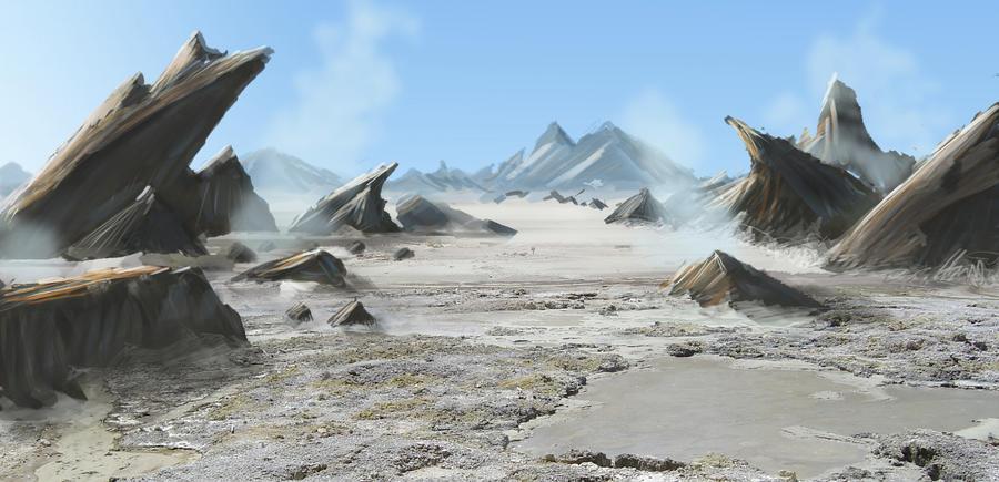 Rocky Futuristic Landscape by externible