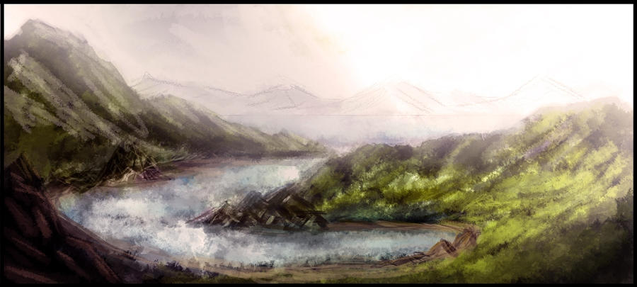 Landscape Speedpainting by externible