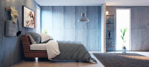 Concrete Bedroom - Vray for Cinema 4D